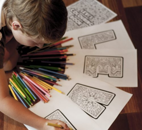 Kids Personalized Printable Adult Coloring Book