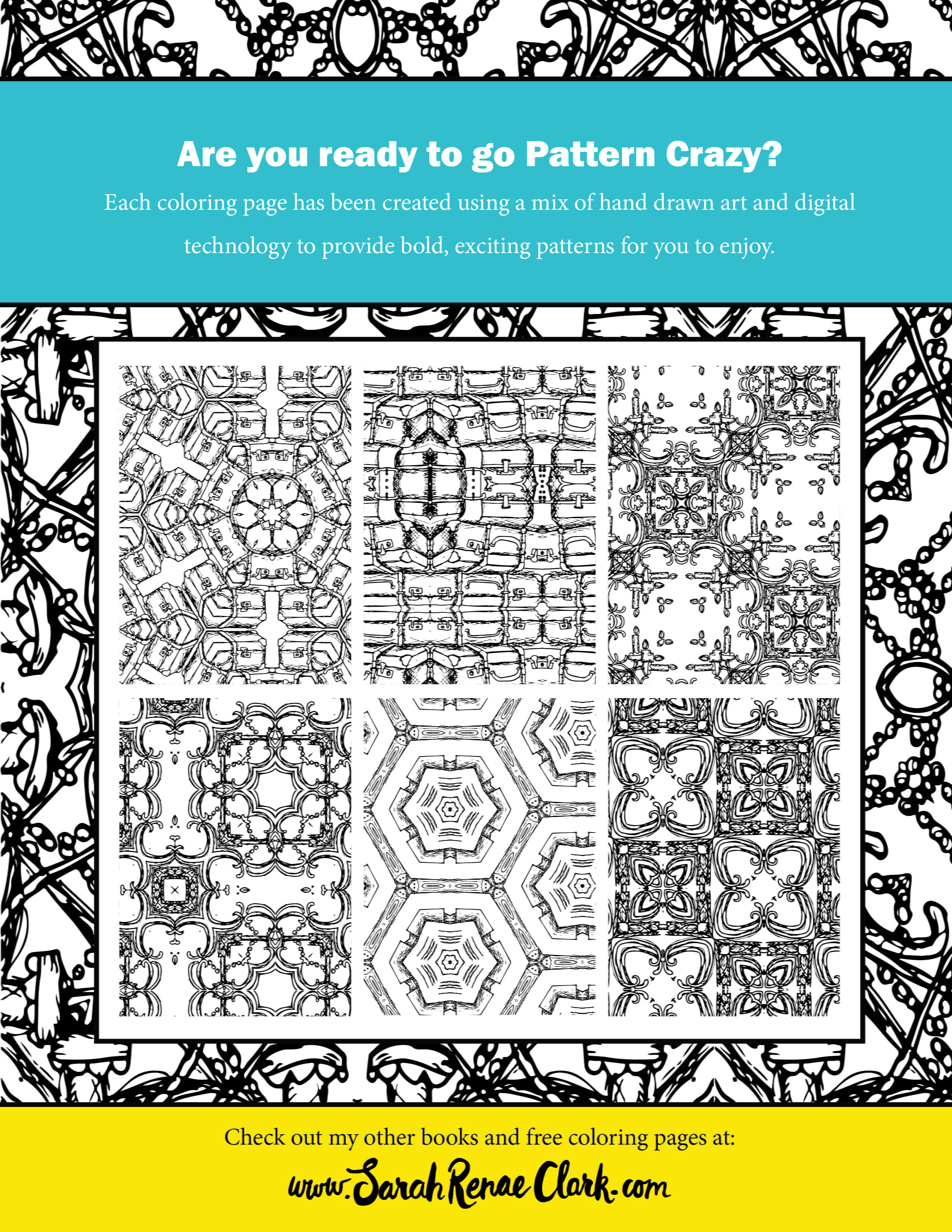 pattern crazy  vintage sketchbook