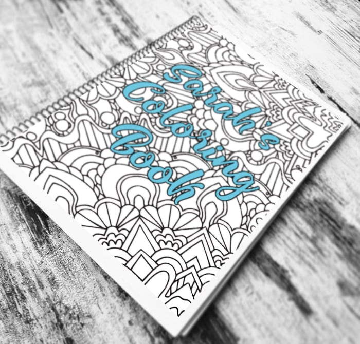 Spiral bound personalized coloring book