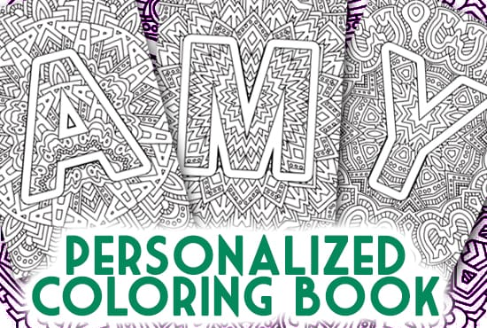 Personalized printable adult coloring book sarah renae Personalized coloring books for adults