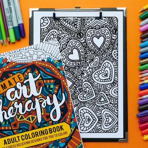 Adult coloring page from 'Ultimate Art Therapy' adult coloring book