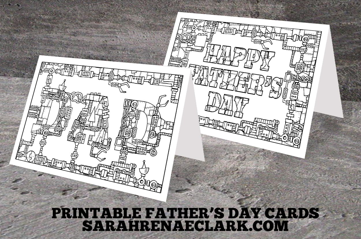 Printable Fathers Day Coloring Cards