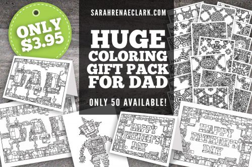 Fathers Day Coloring Gift Pack
