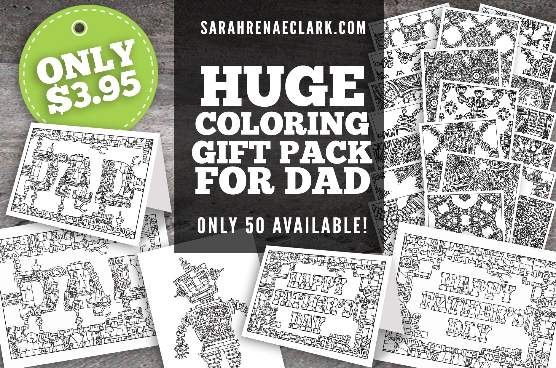 free father u0027s day coloring page and gift pack