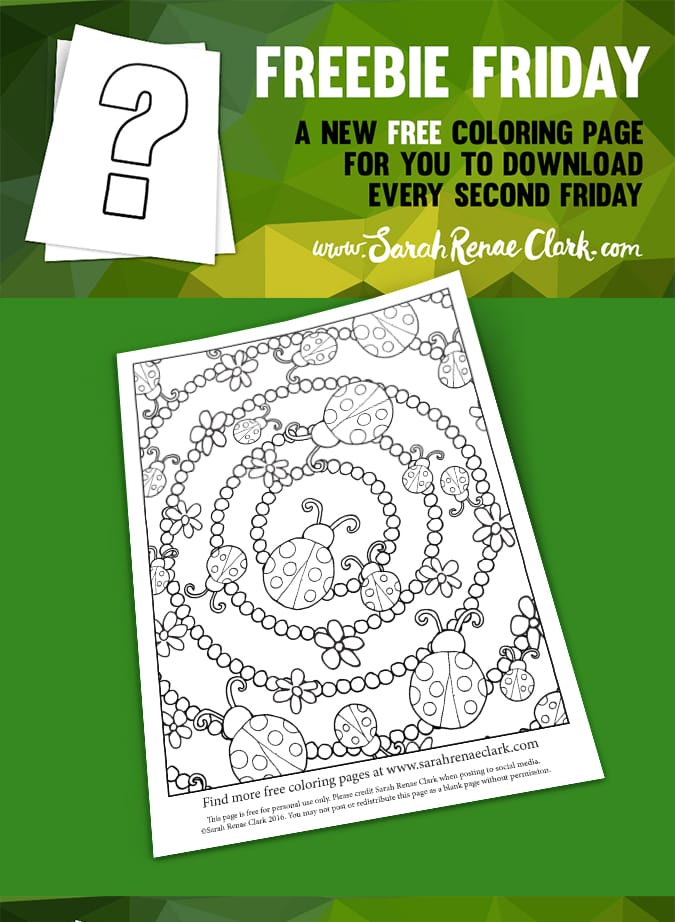 free ladybugs coloring page
