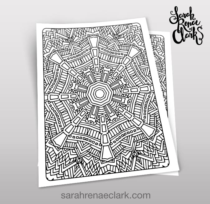 Art Therapy 1.06 - Coloring Page - Sarah Renae Clark - Coloring Book Artist  And Designer