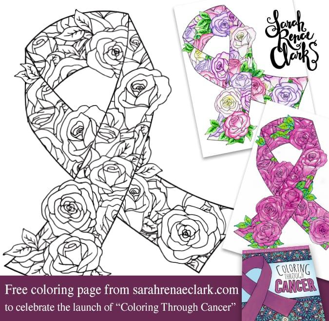 Free awareness ribbon coloring page