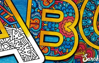 Color the Alphabet: A-Z Adult Coloring Book