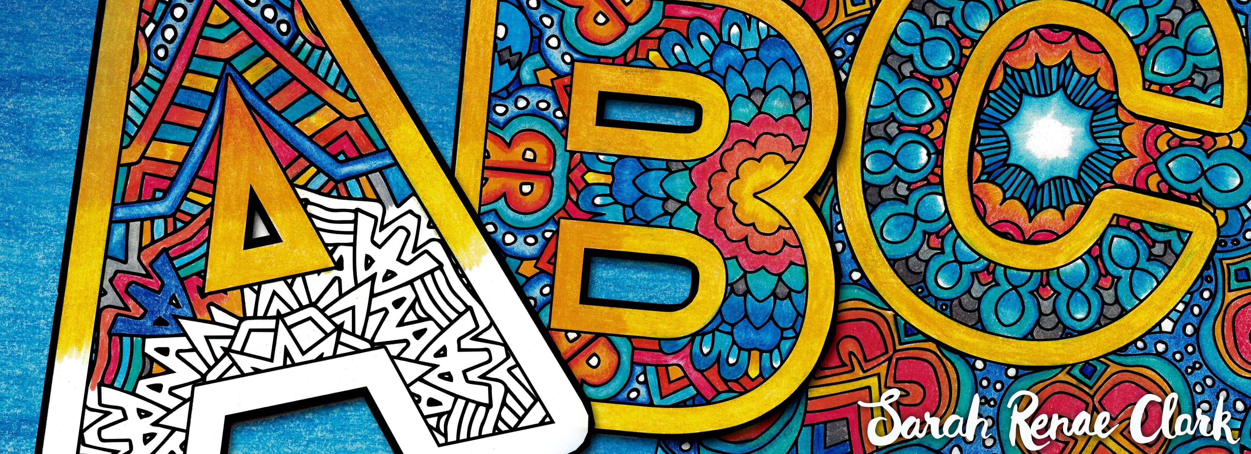 Color the Alphabet: A-Z Adult Coloring Book
