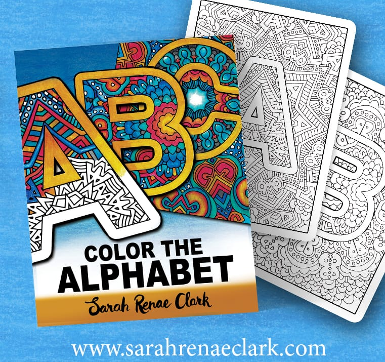 Color the Alphabet A-Z Adult coloring book