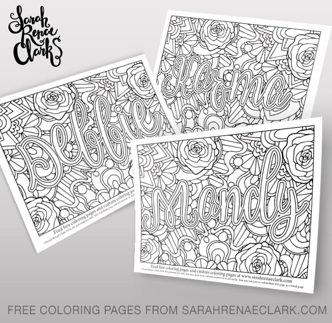 free name coloring pages printables - photo#5