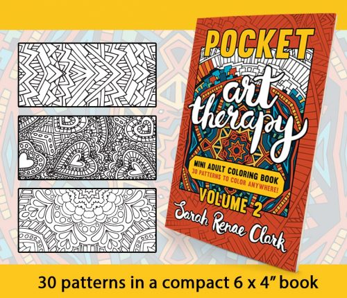 Pocket Art Therapy Mini Adult Coloring Book