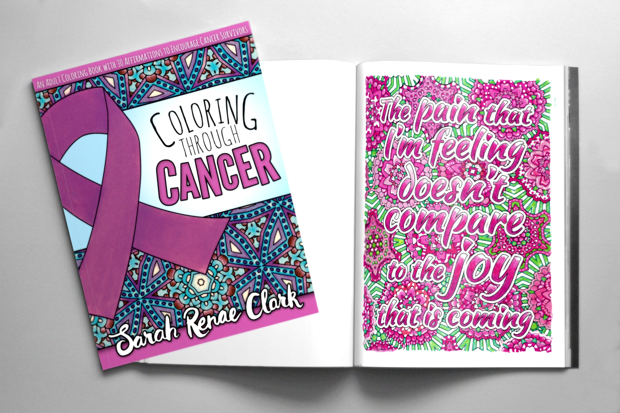 Coloring Through Cancer adult coloring book