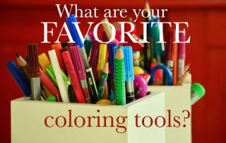 what are your favorite coloring tools for adult coloring books