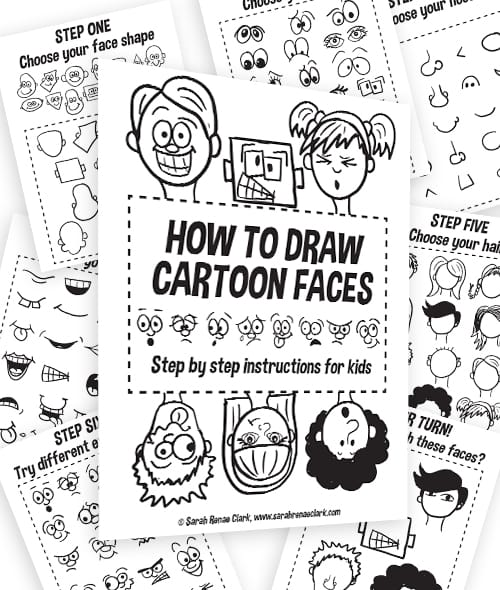 Cartoon Characters You Can Draw : How to draw cartoon characters free resources sarah