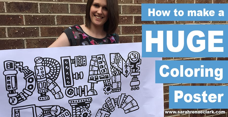 How to make a huge coloring poster