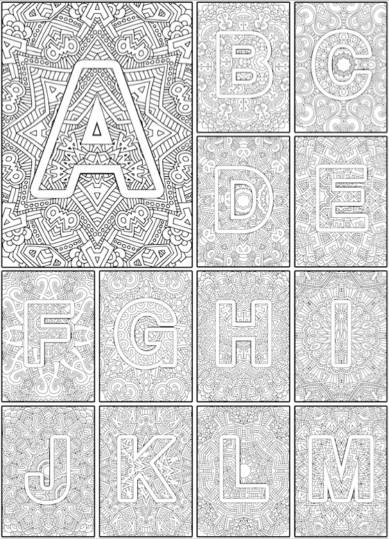 Look inside Color the Alphabet Coloring Book by Sarah Renae Clark