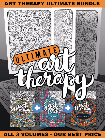 Ultimate Art Therapy Coloring Book Bundle