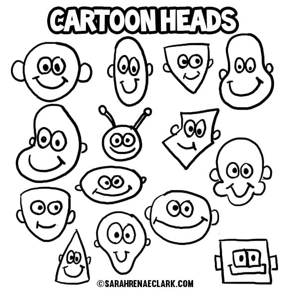 How to Draw Cartoon Heads