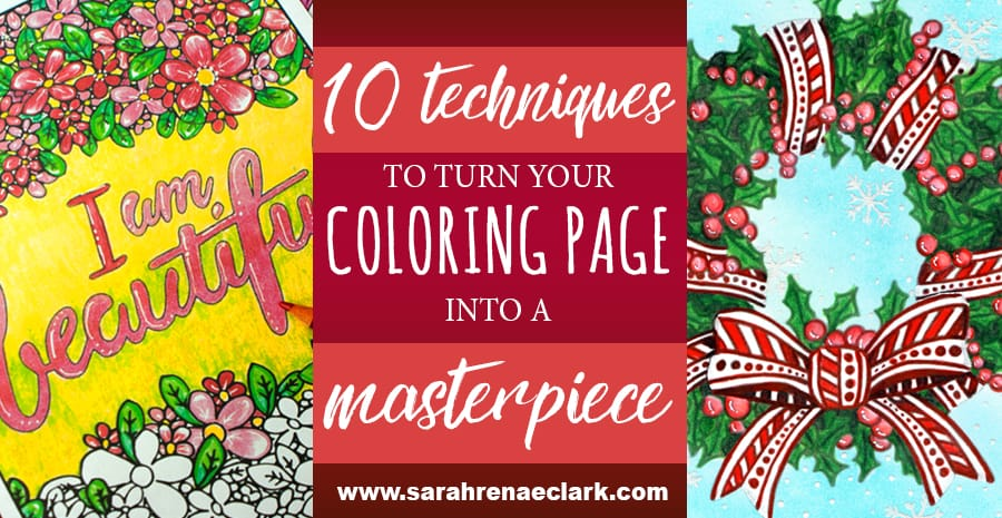 These 10 videos teach you a variety of interesting pencil, marker, gel pen and blending techniques that will help you take your coloring to the next level. See the post at: http://sarahrenaeclark.com/2016/these-10-simple-techniques-will-turn-your-coloring-page-into-a-masterpiece/