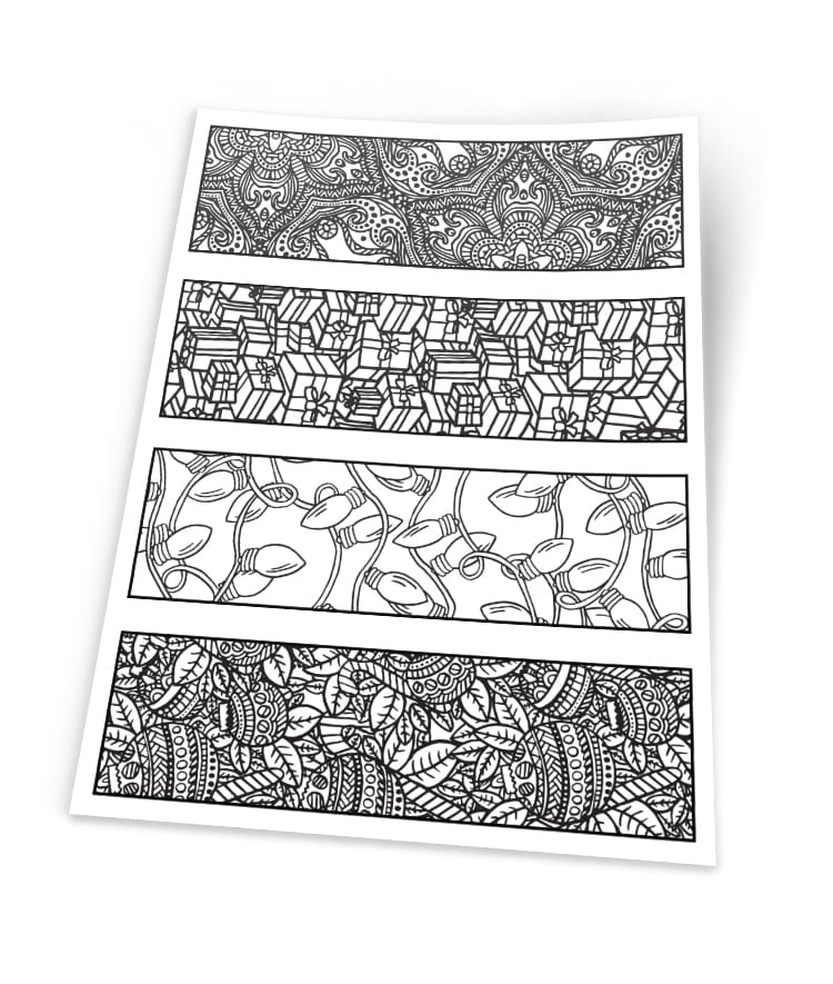 image about Printable Christmas Bookmarks named Xmas Bookmarks 4 Pack