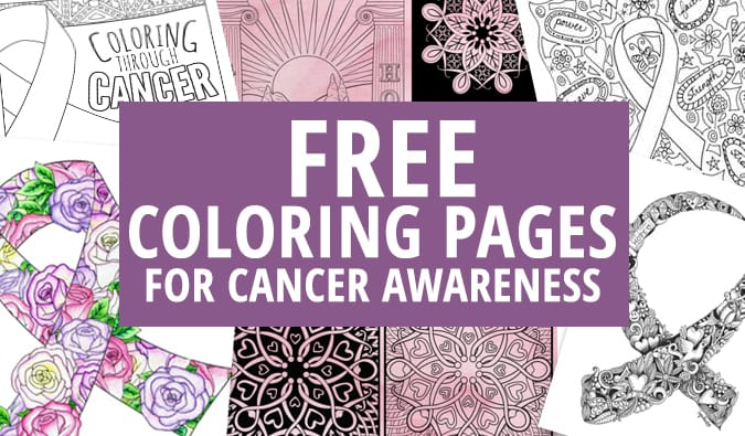 Free coloring pages for cancer awareness