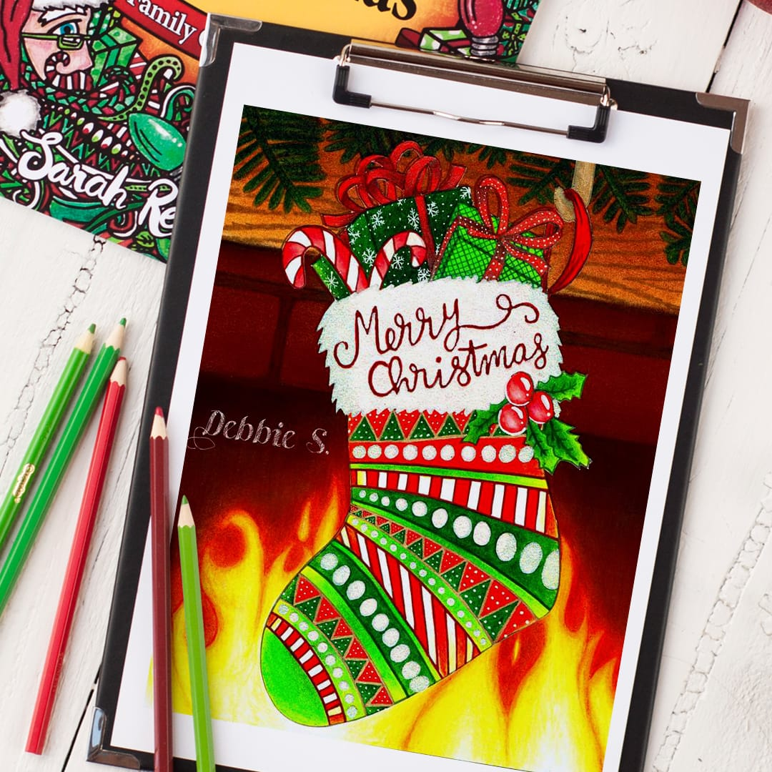 """Check out this coloring page from """"Coloring Christmas"""" 