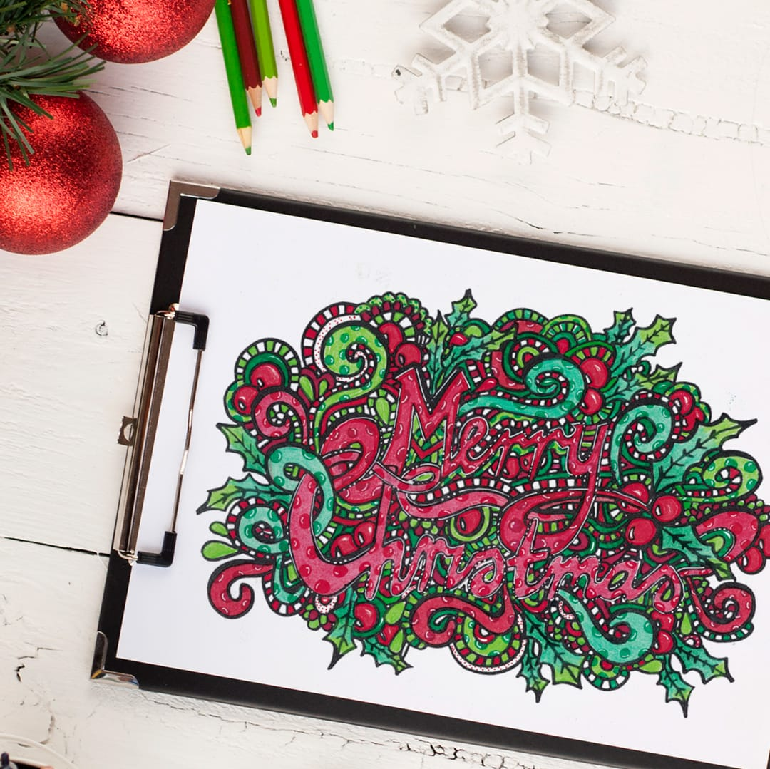christmas coloring bundle sarah renae clark coloring book