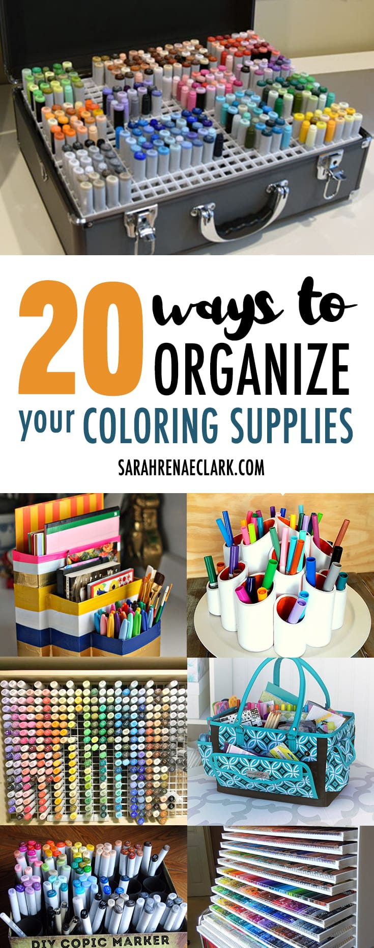 20 Clever Ways to Organize Your Coloring Supplies