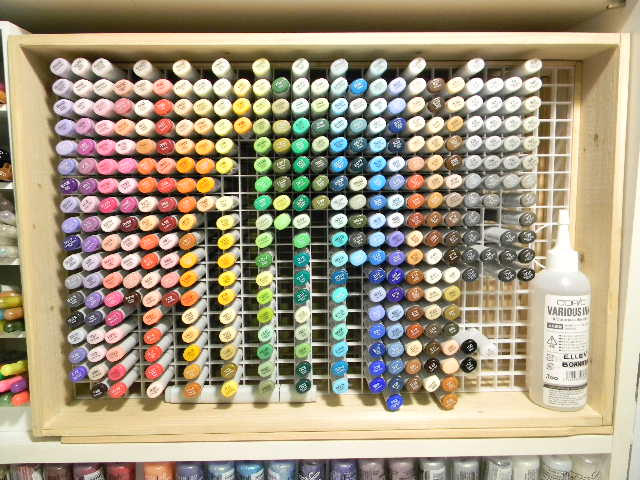 DIY Copic Storage - 20 Clever Ways to Organize Your Coloring Supplies