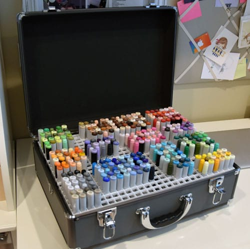 DIY Marker Briefcase - 20 Clever Ways to Organize Your Coloring Supplies