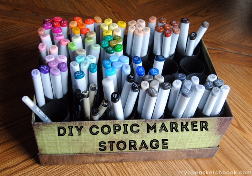 DIY Copic Marker Storage - 20 Clever Ways to Organize Your Coloring Supplies