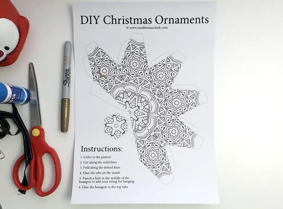 DIY Christmas Ornament Tutorial Step 01