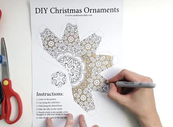 DIY Christmas Ornament Tutorial Step 02