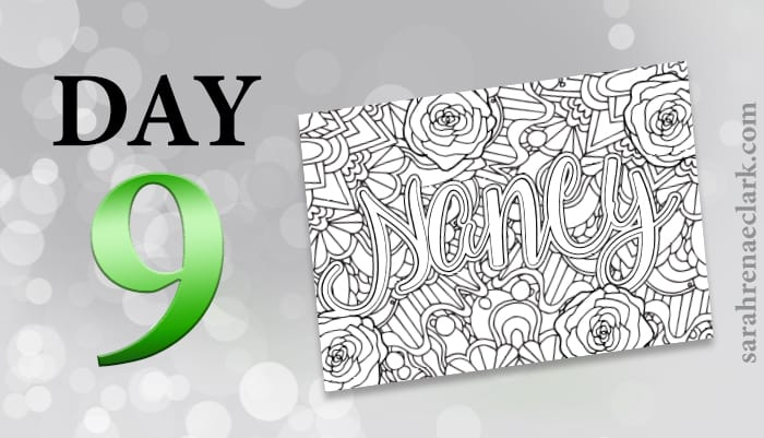 12 Days of Coloring Giveaways - Day 9