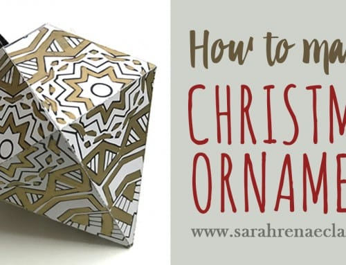 How to make a Christmas Ornament (includes free template)