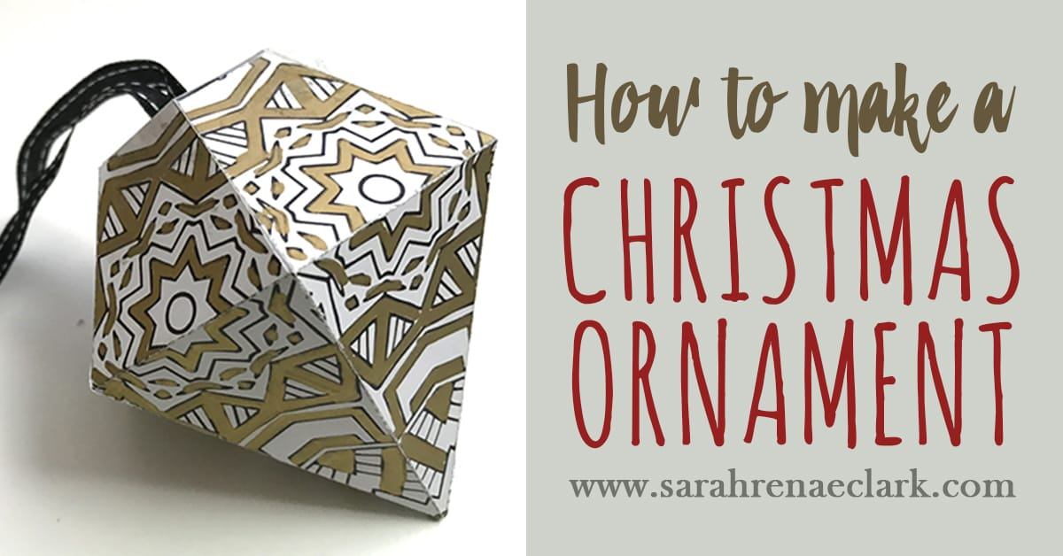 How to make your own Christmas Ornament
