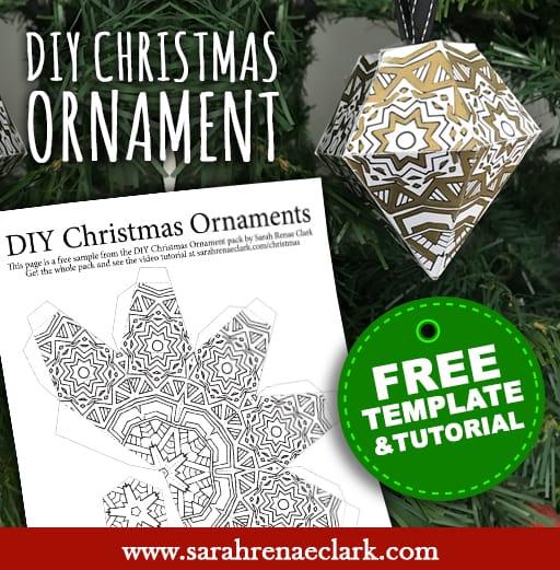 Free DIY Christmas Ornament Template