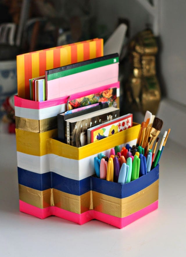 Easy DIY Coloring Caddy - 20 Clever Ways to Organize Your Coloring Supplies