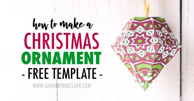 view larger image make a paper ornament for your christmas tree with this free printable template and tutorial