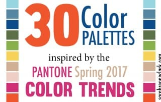 30 Color Palettes Inspired by the Pantone Spring 2017 Color Trends   See all 30 color schemes for inspiration at https://sarahrenaeclark.com