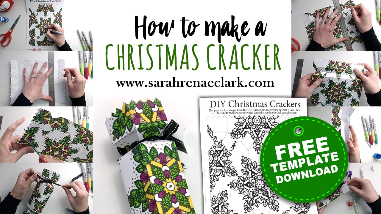 How to make a Christmas Cracker - Free template and tutorial at sarahrenaeclark.com