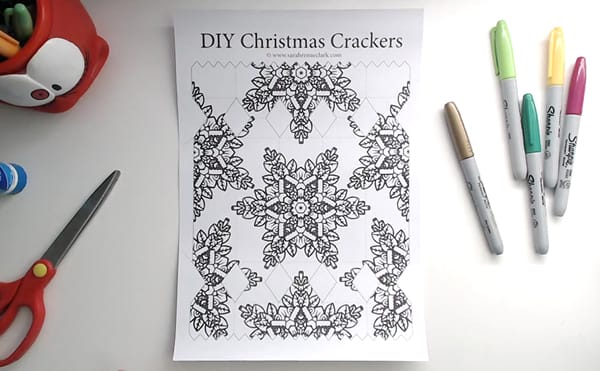 How to make a DIY Christmas Cracker - Step 1