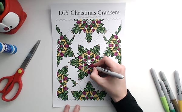 How to make a DIY Christmas Cracker - Step 2