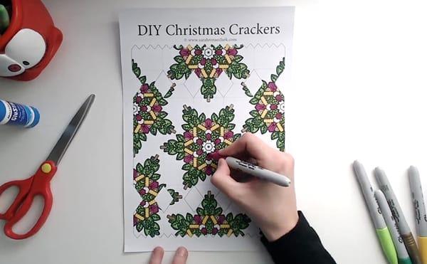 How to make a DIY Christmas Cracker - Step 2