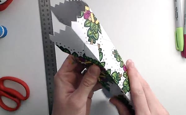 How to make a DIY Christmas Cracker - Step 5