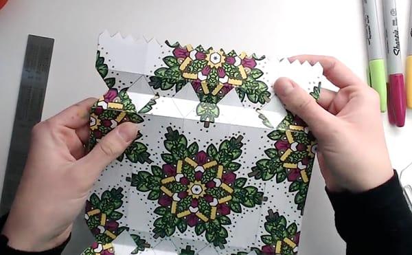 How to make a DIY Christmas Cracker - Step 10
