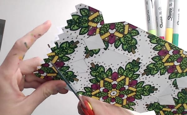 How to make a DIY Christmas Cracker - Step 11