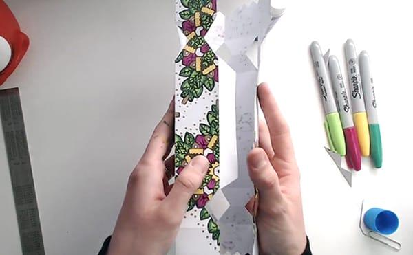 How to make a DIY Christmas Cracker - Step 13