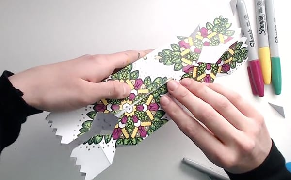 How to make a DIY Christmas Cracker - Step 14